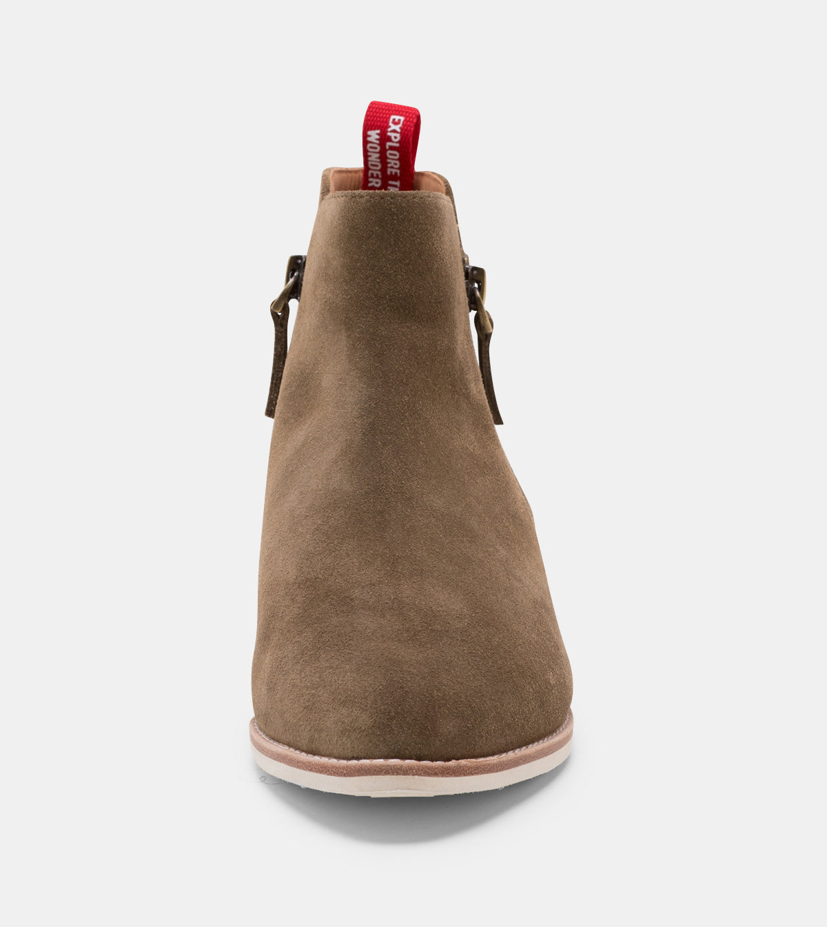 Madison Zip Boot Khaki Wash Suede