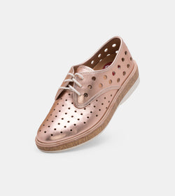 Derby Midsole Cork Circle Punch Rose Gold