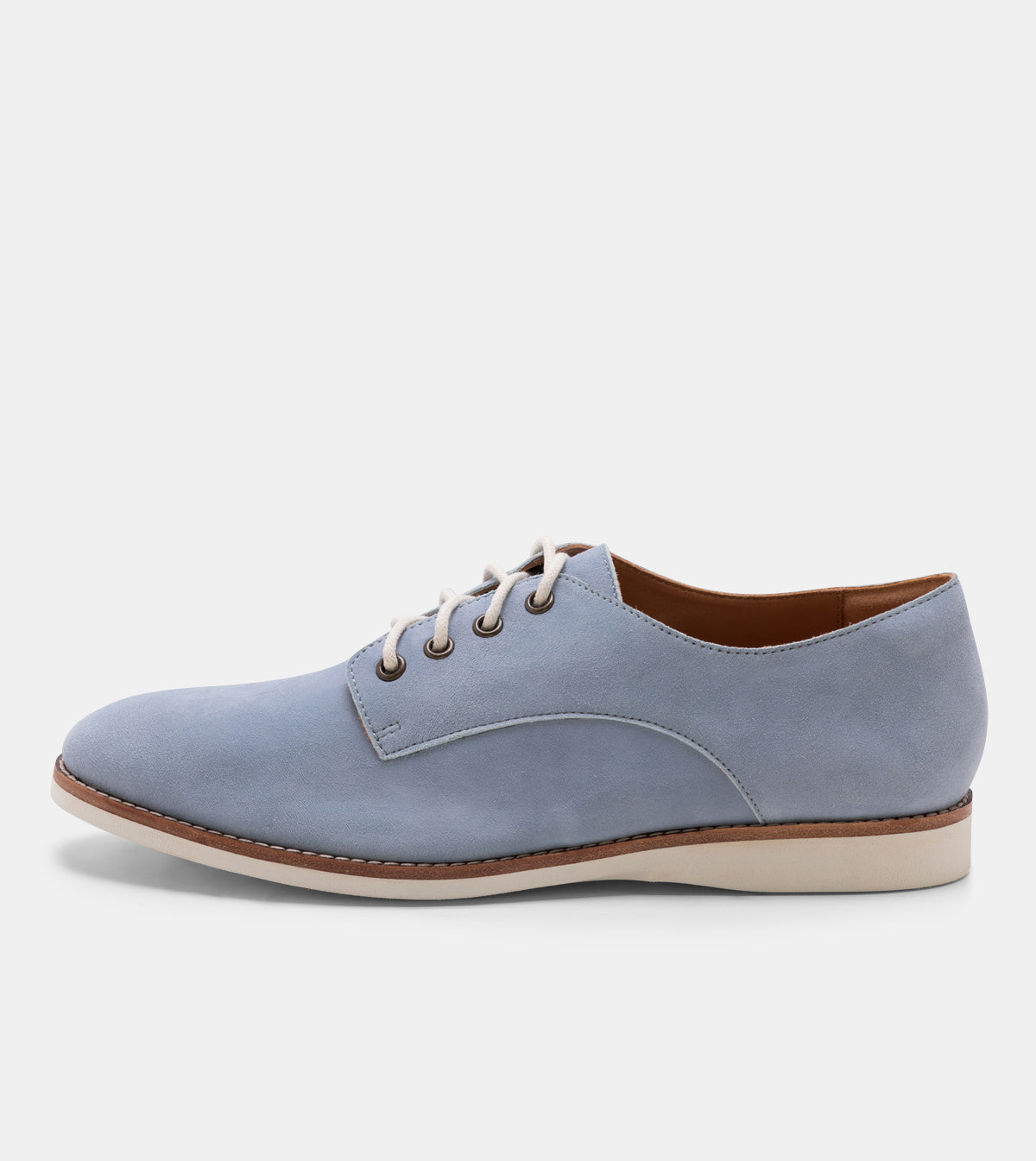 Derby Mens Blue Suede
