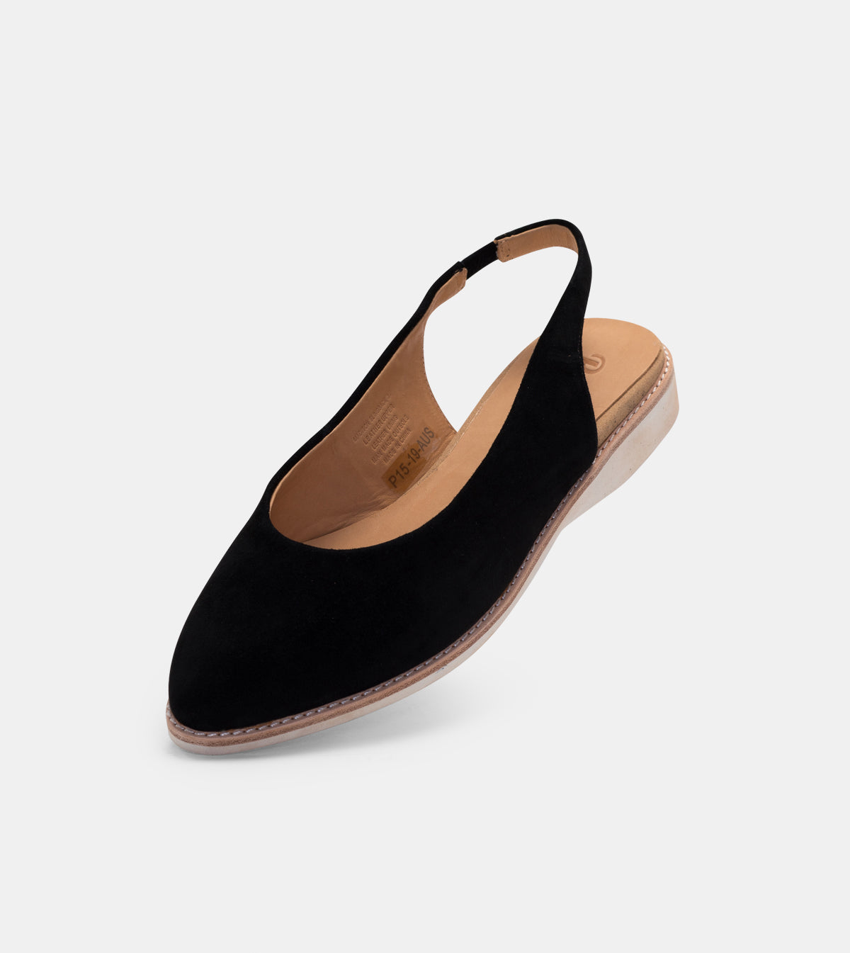 Madison Slingback Black Suede