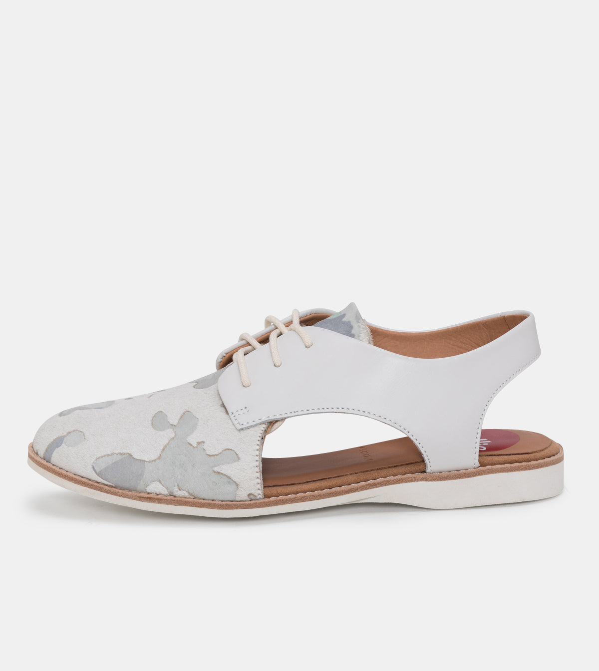 Slingback Cow Hide/Off White