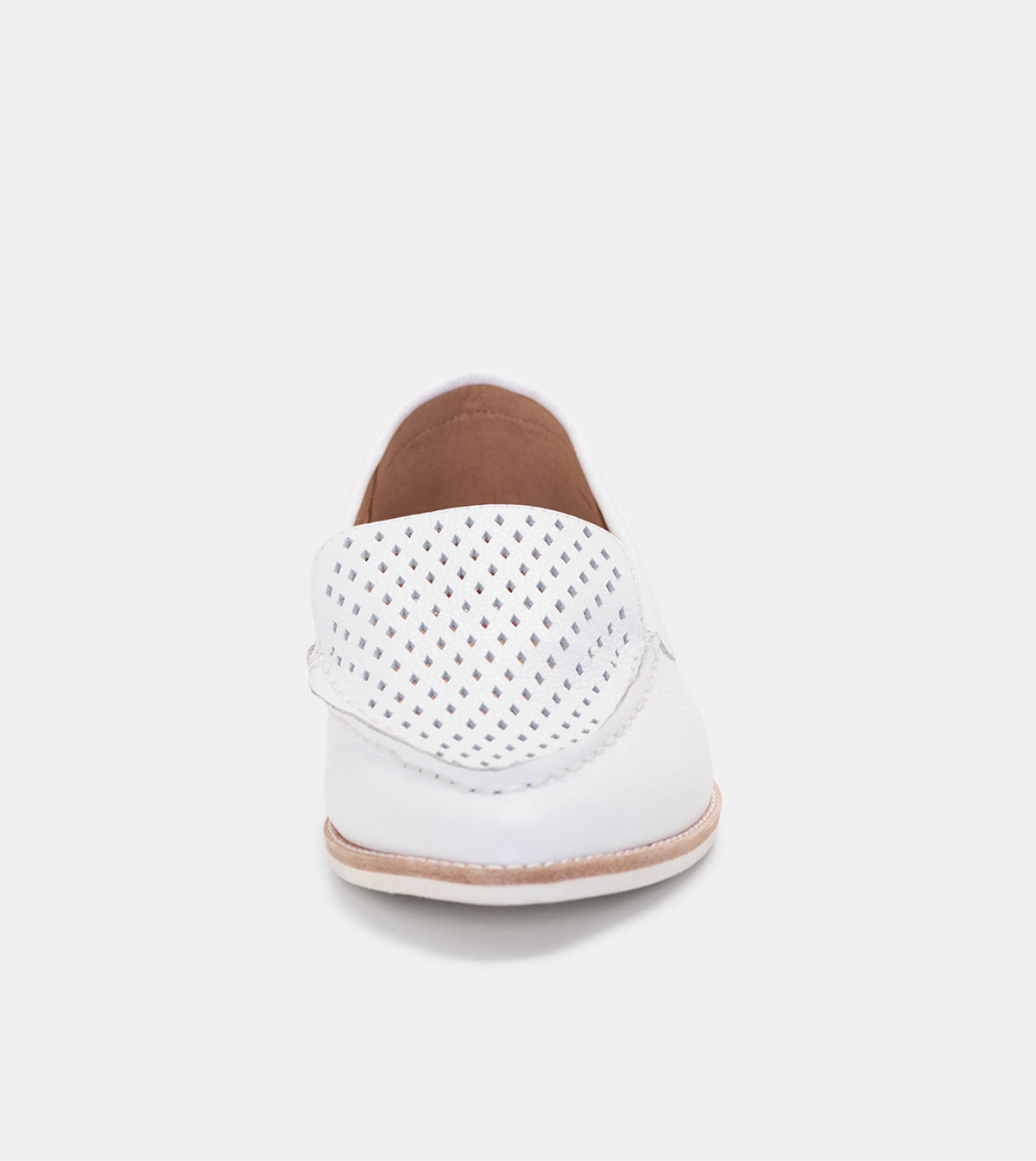 Madison Loafer Punch White Tumble