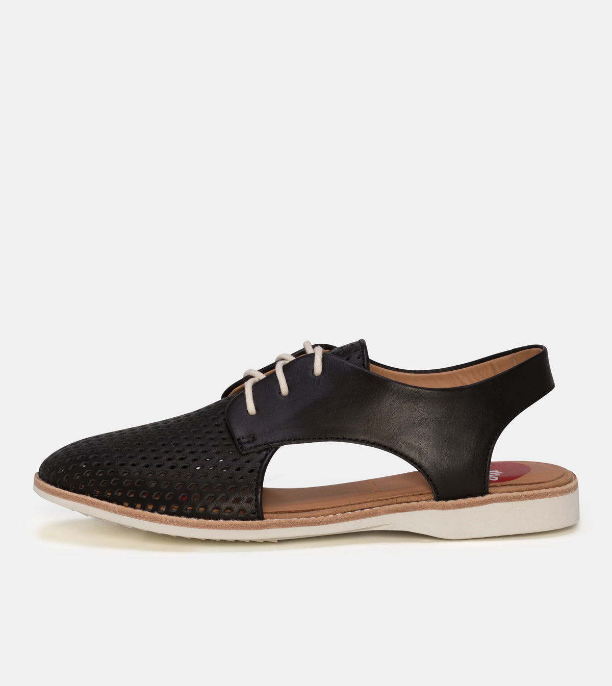 Slingback Punch Black Leather