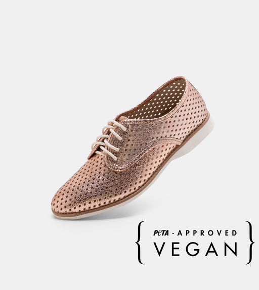 Vegan Derby Punch Rose Gold