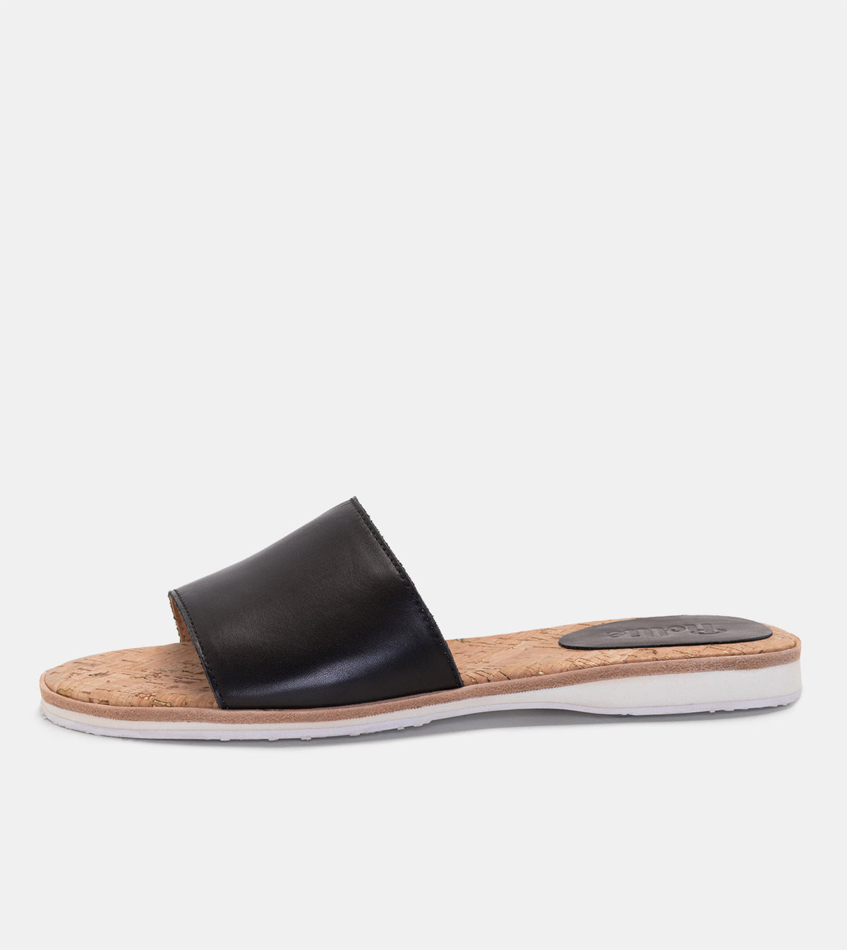Sandal Slide Black Leather
