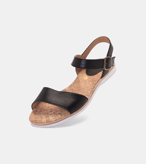 Sandal Black Leather