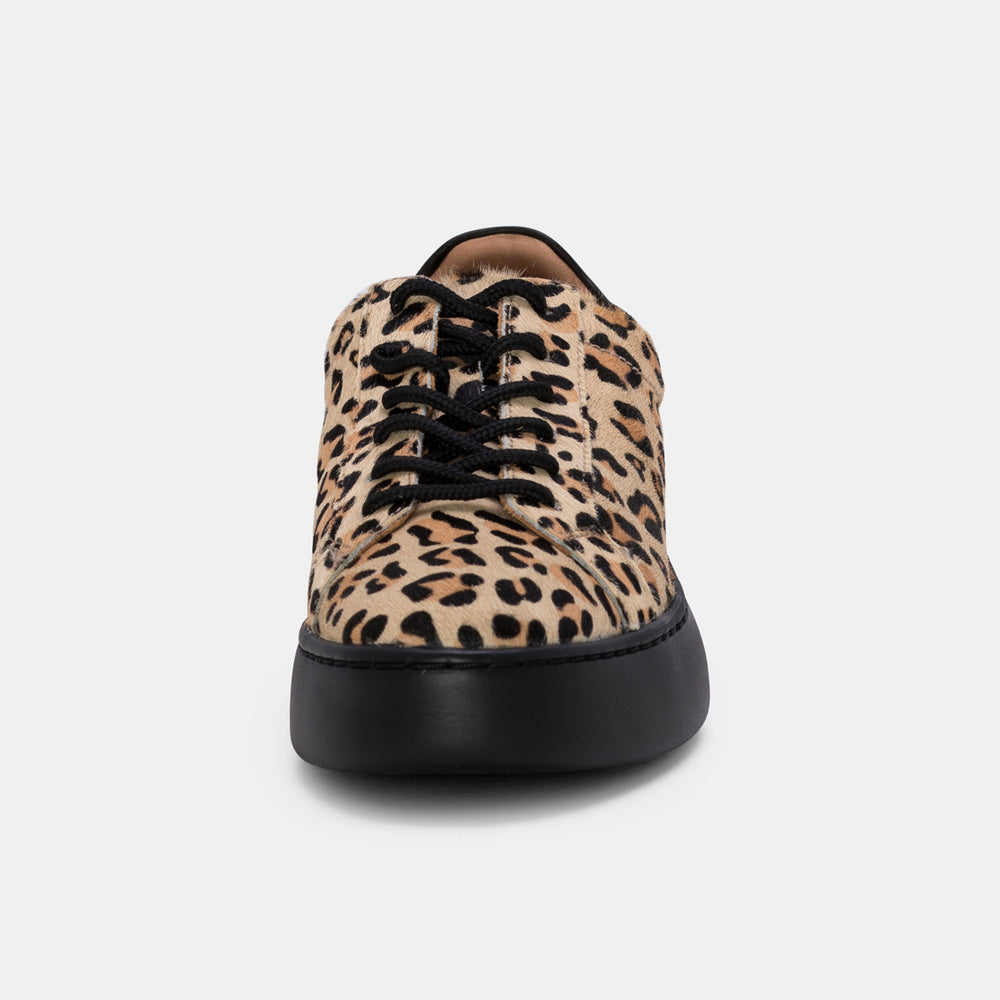 City Sneaker Camel Leopard/Black Sole