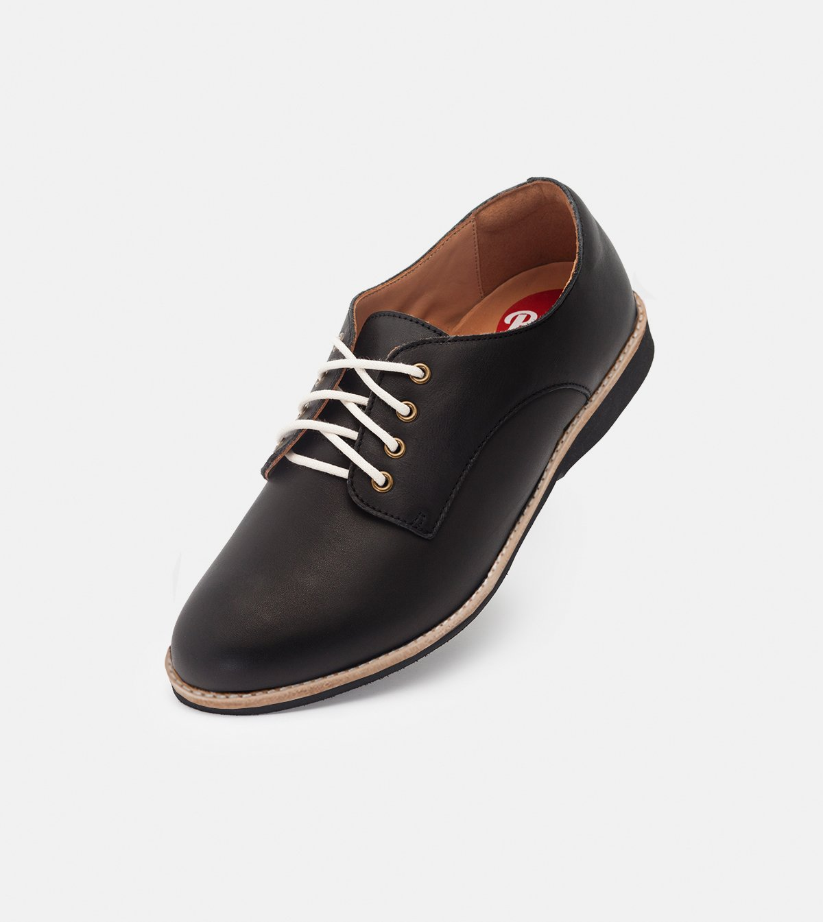 Derby Black with Black Sole
