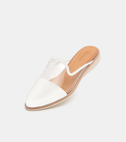 Madison Mule Clear/White Toe Cap