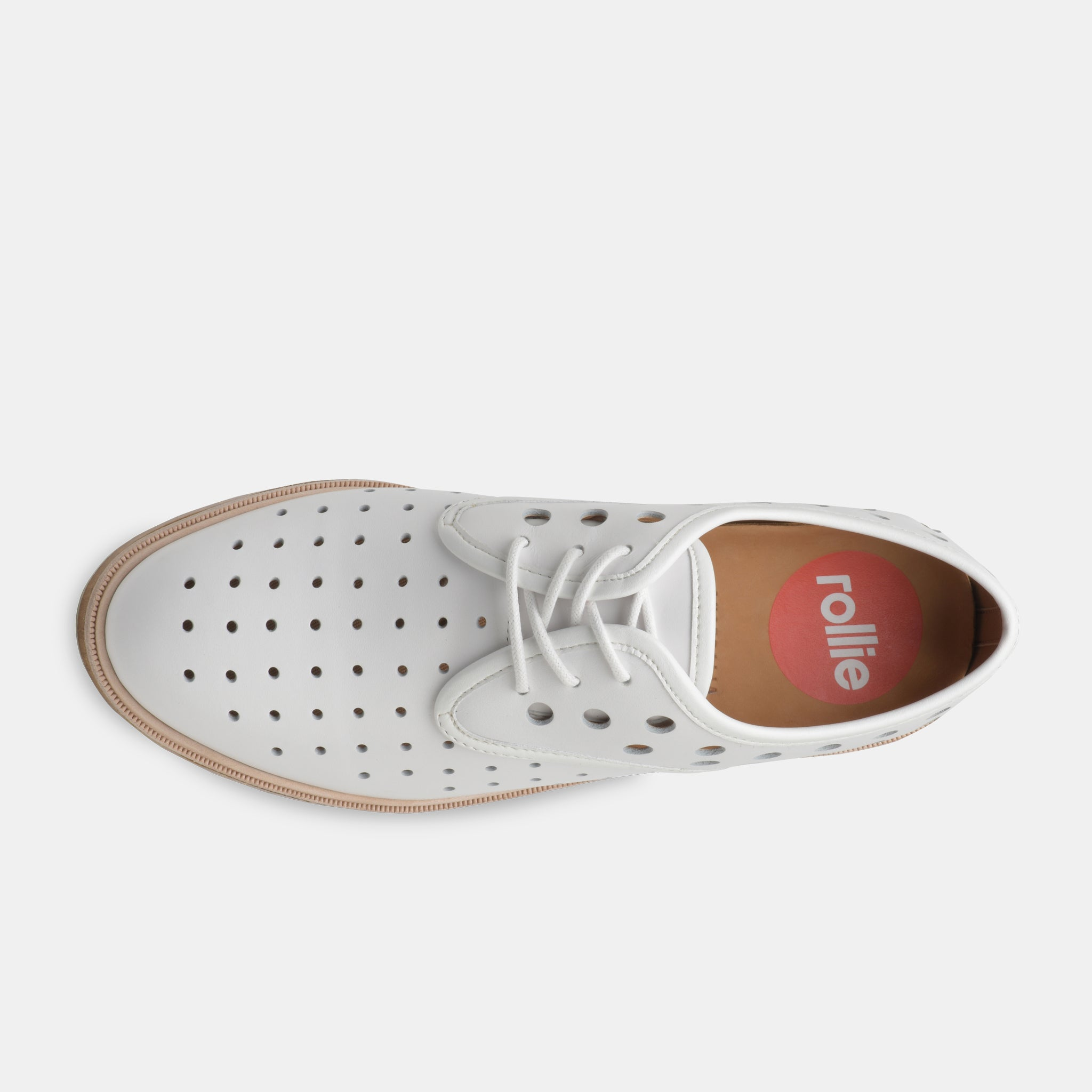 Derby Midsole Cork Circle Punch White