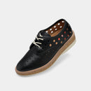 Derby Midsole Cork Circle Punch Black