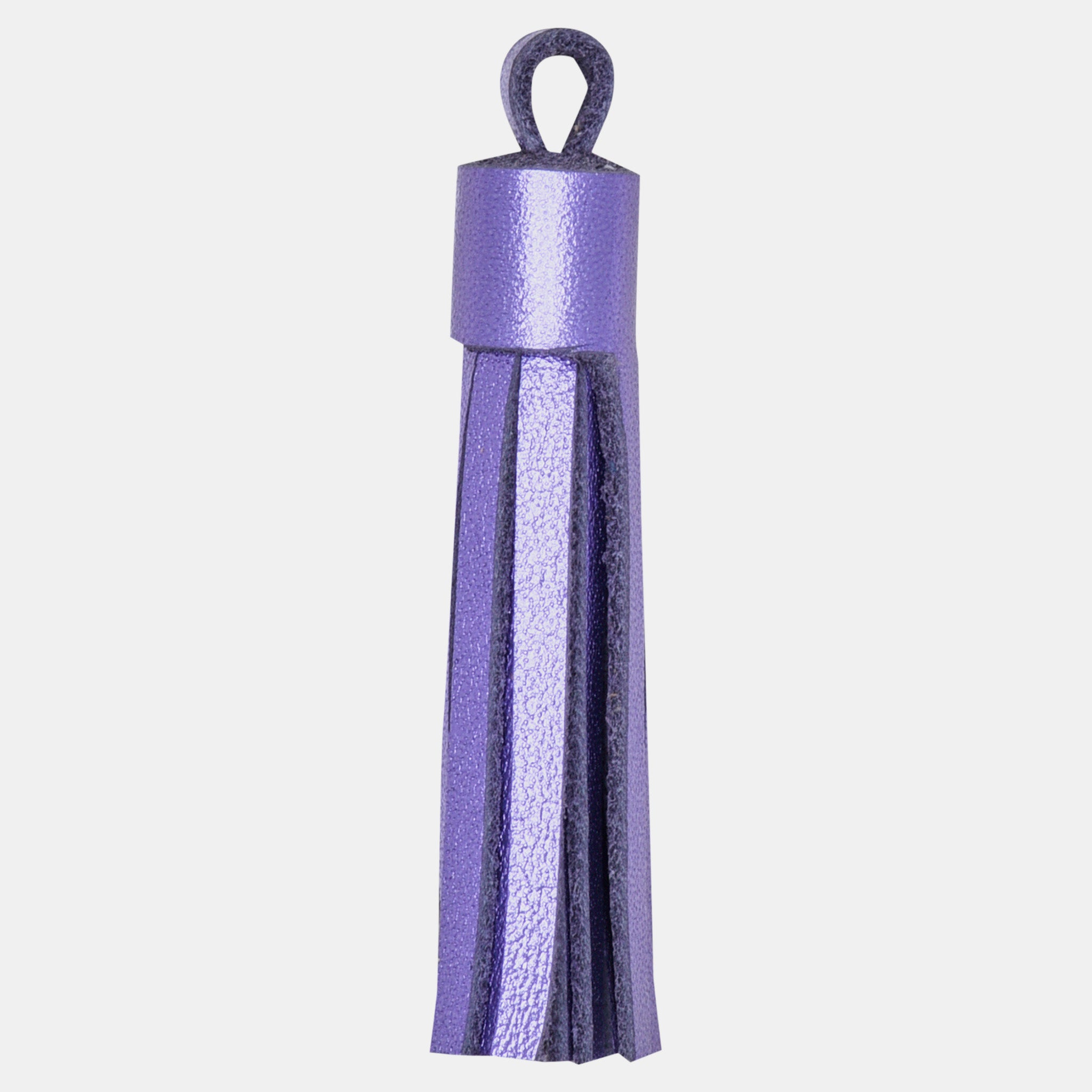 Leather Tassel Set Lilac Metallic (4 per set)