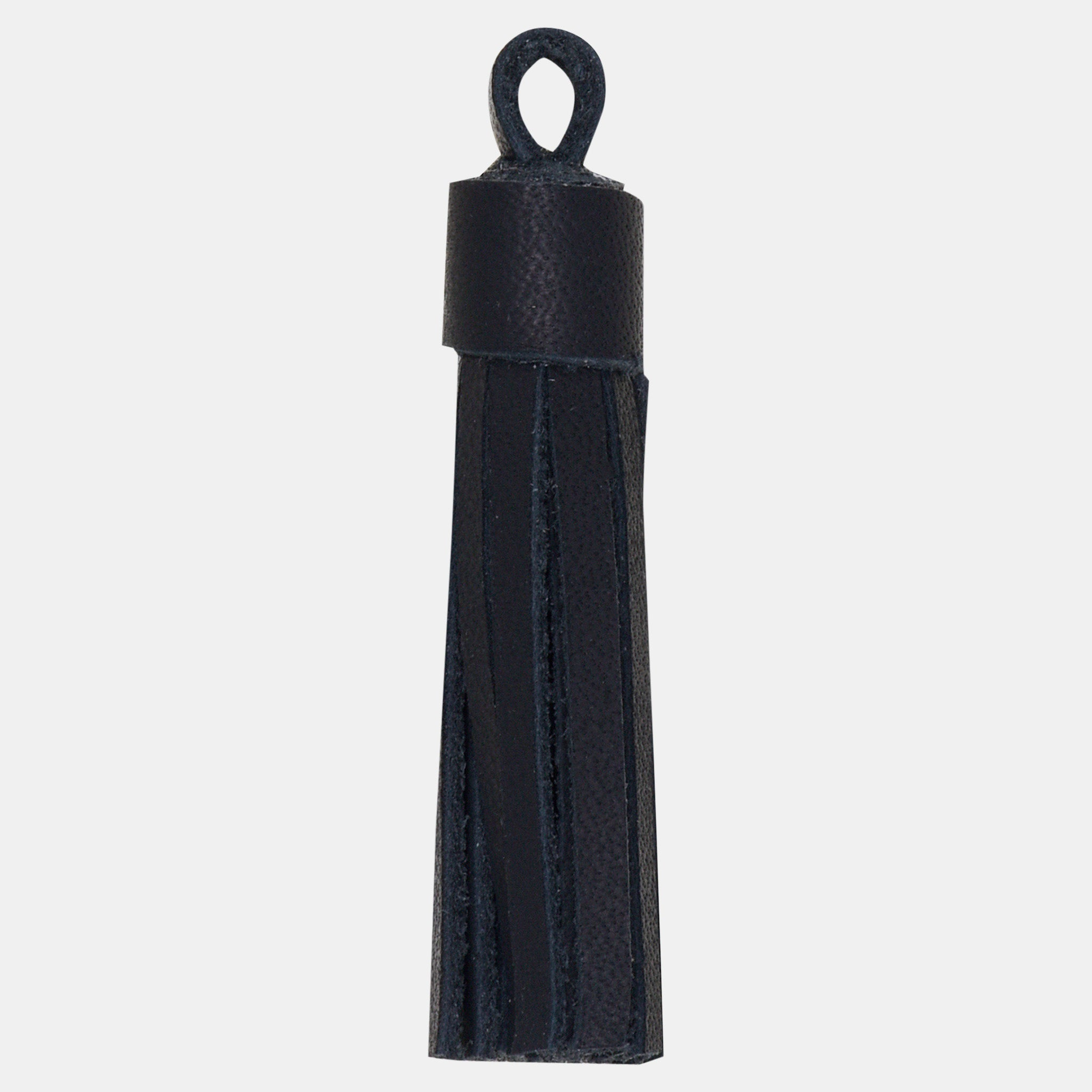 Leather Tassel Set Black (4 per set)