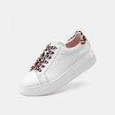 City Sneaker White/Leopard