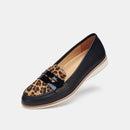 Penny Loafer Black / Cognac Leopard