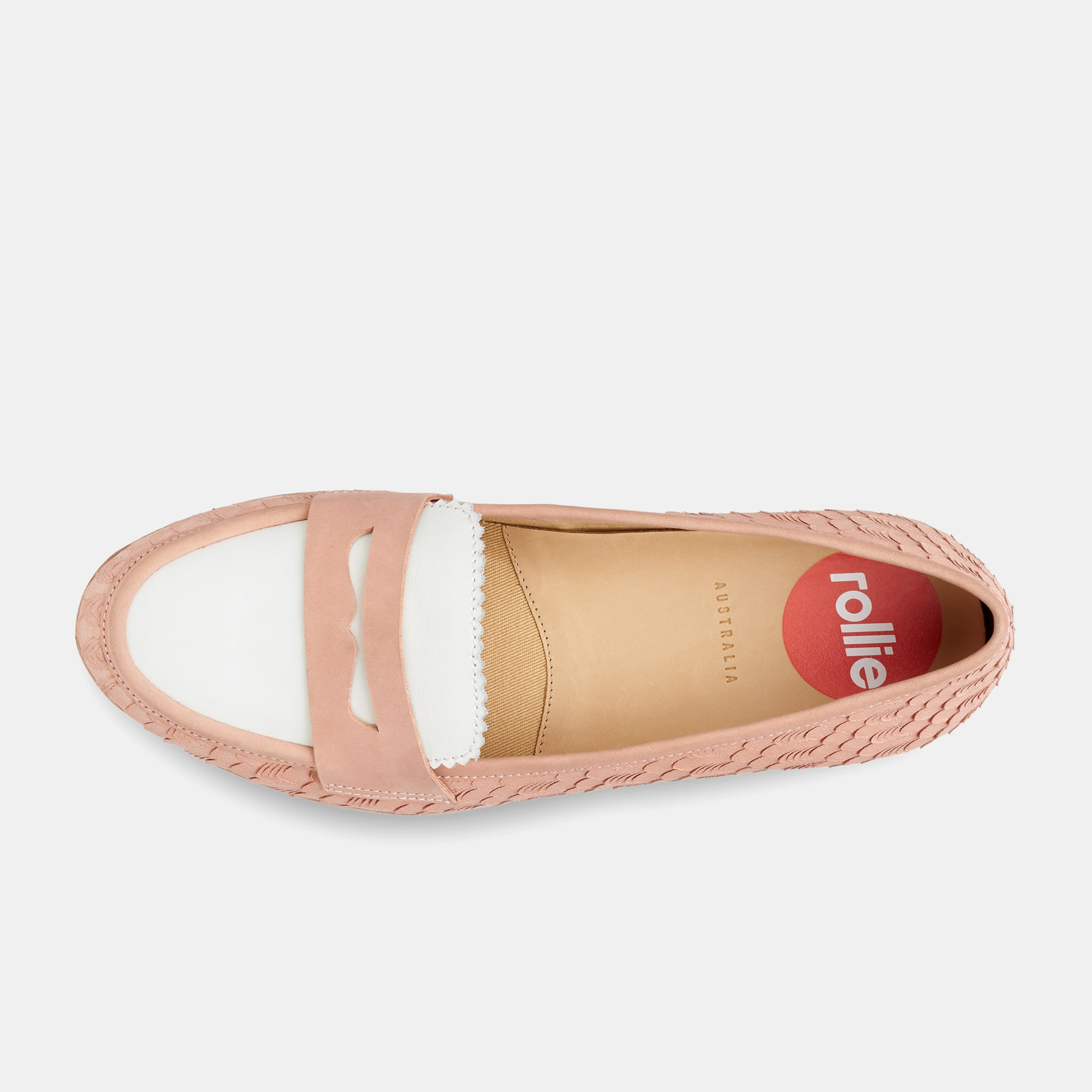 Penny Loafer Pink Geo / White