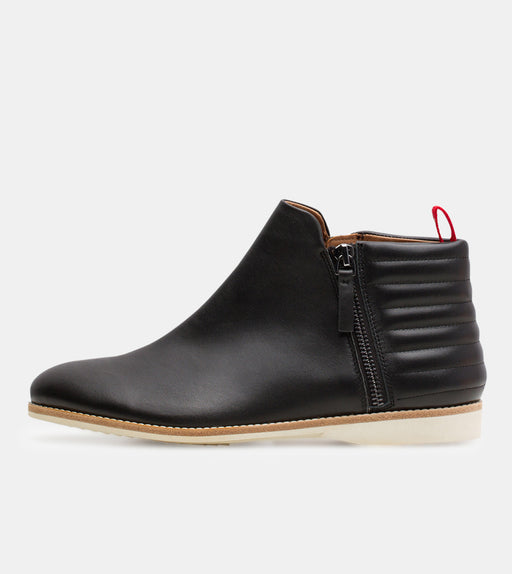 Side Zip Boot Black/Padded
