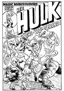 HER HULK & SHE-WOLVERINE spoof cover