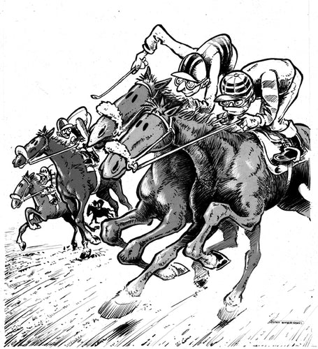 DRAWINGS OF THE TURF - Racehorses