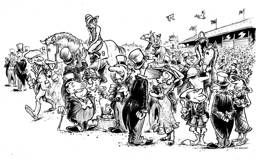 DRAWINGS OF THE TURF - Royal Ascot