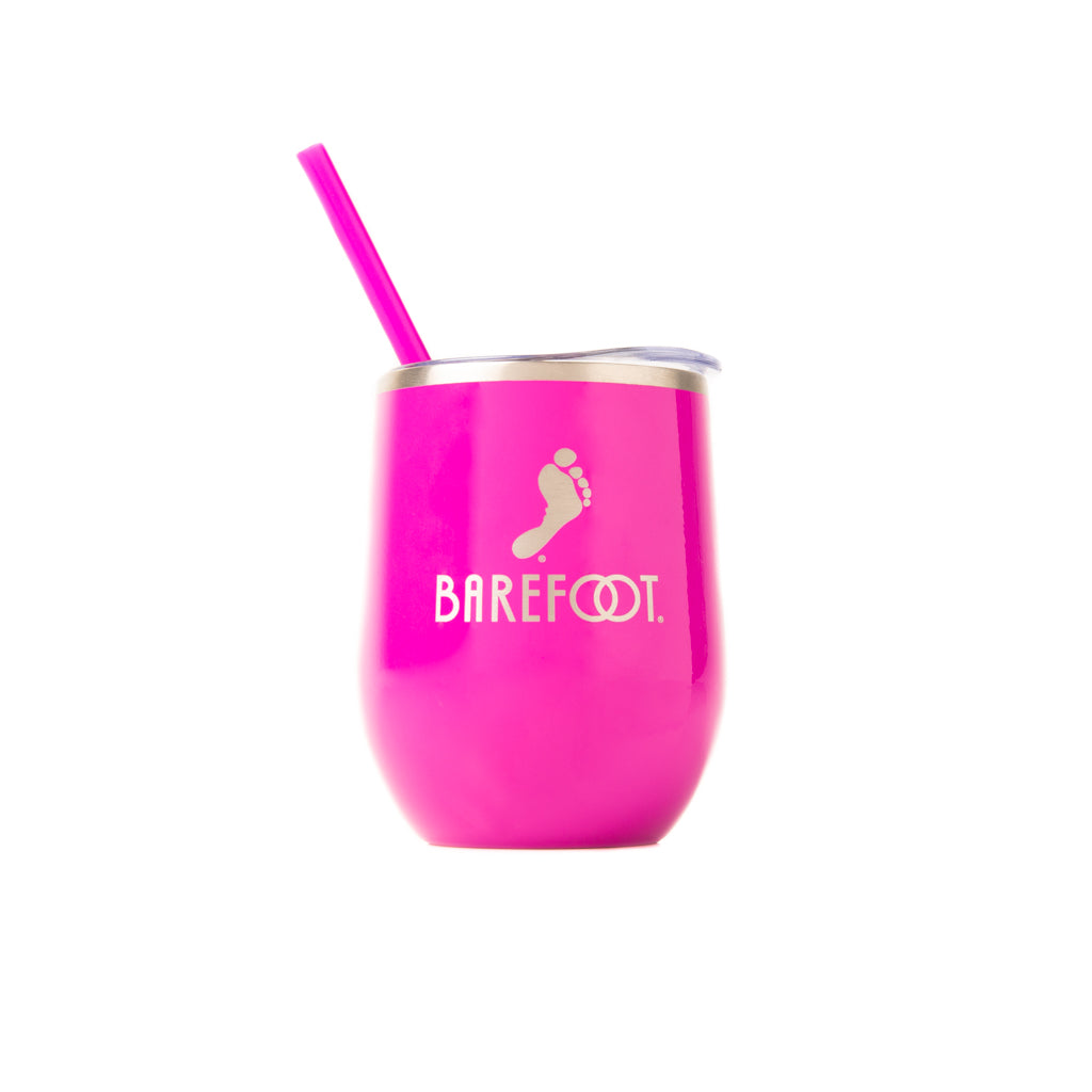 Barefoot Wine Tumbler with Straw