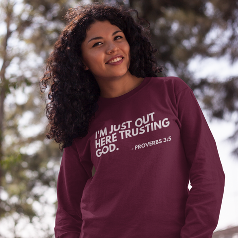 Trusting God (Burgundy Crewneck)