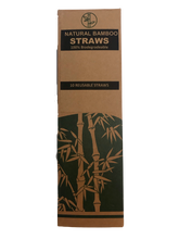 Load image into Gallery viewer, Bamboo Straw Set (10 Pce)