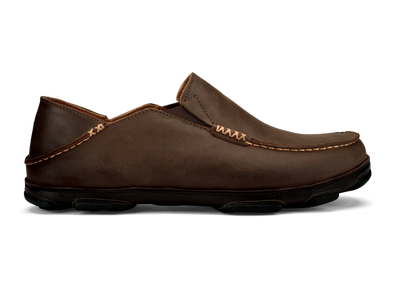 OluKai Men's Moloa Leather Slip-On Shoes - Idaho Mountain Touring