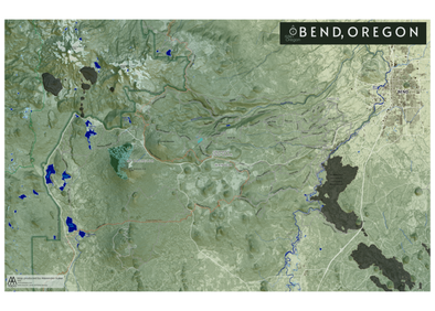AA Topo MTB Bend Oregon Map - Idaho Mountain Touring