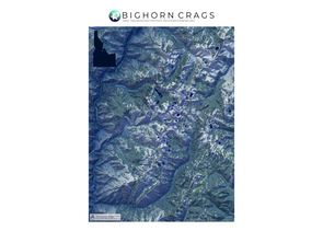 AA Topo Bighorn Crags - Moonlight Map - Idaho Mountain Touring
