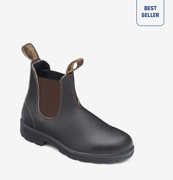 Blundstone 500 Chelsea Boots, Stout Brown, #500 - Idaho Mountain Touring