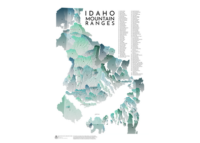 AA Topo Idaho Mountains Map - Idaho Mountain Touring