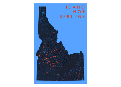 AA Topo Idaho Hot Springs Map - Idaho Mountain Touring