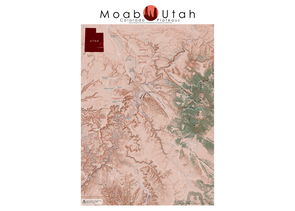 AA Topo Moab Mountain Bike Map - Idaho Mountain Touring