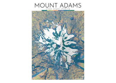 AA Topo Mount Adams Map - Idaho Mountain Touring