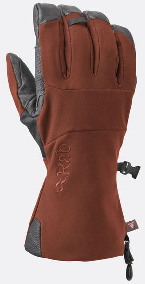 RAB Men's Baltoro Glove Dark Crimson - Idaho Mountain Touring
