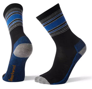 Men's Hiking Striped Light Crew Socks