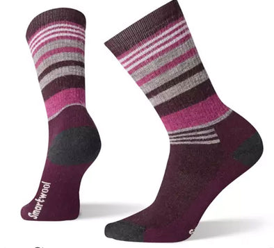 Women's Medium Striped Hiking Crew Socks