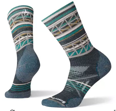 Women's PhD Outdoor Medium Pattern Hiking Crew Socks - Idaho Mountain Touring