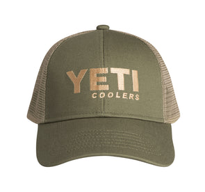 Yeti Coolers Trucker Hat Olive Green - Idaho Mountain Touring