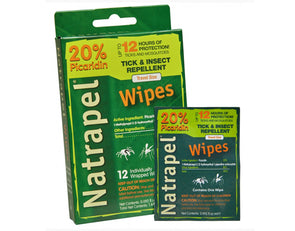 Adventure Medical Kits Natrapel 12-hour Wipes - 12 Count - Idaho Mountain Touring