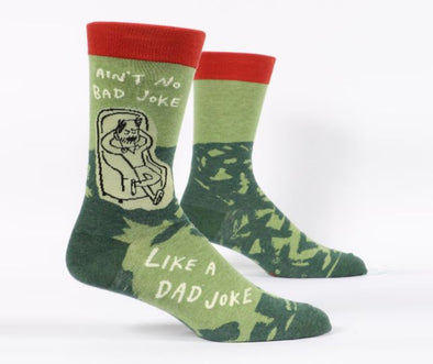 Blue Q Socks Men's Ain't No Bad Dad Joke Crew Sock - Idaho Mountain Touring