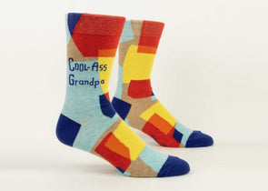 Blue Q Socks Men's Cool-Ass Grandpa Crew Socks - Idaho Mountain Touring