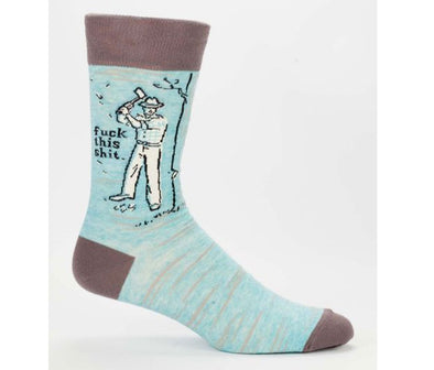 Blue Q Socks Men's Fuck This Shit Crew Socks - Idaho Mountain Touring