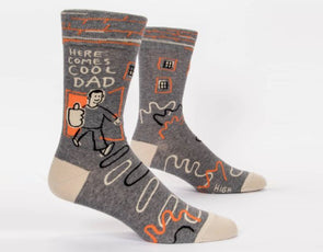 Blue Q Socks Men's Here Comes Cool Dad Crew Socks - Idaho Mountain Touring