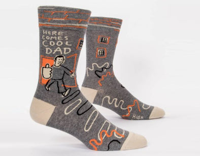 Men's Here Comes Cool Dad Crew Socks