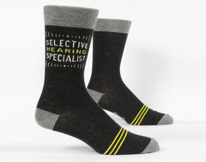 Blue Q Socks Men's Selective Hearing Crew Sock - Idaho Mountain Touring