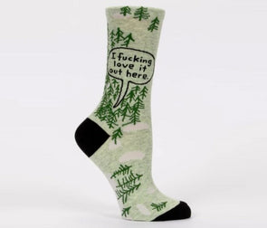 Women's Fucking Love It - Woods Crew Sock