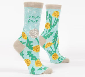 Blue Q Socks Women's I Never Fart Crew Sock - Idaho Mountain Touring