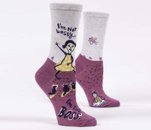 Women's I'm Not Bossy Crew Socks